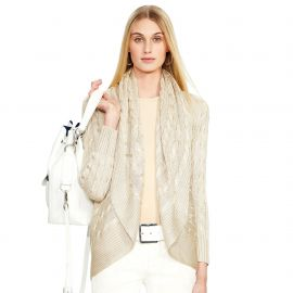 Cabled Cashmere Open Cardigan at Ralph Lauren
