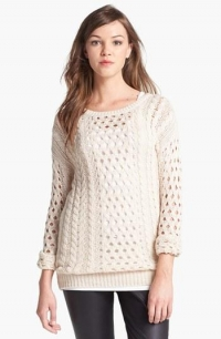 Cabled Sweater by Halogen at Nordstrom