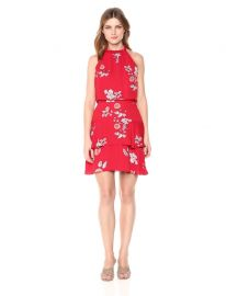 Cadence Printed Ruffle Dress at Amazon