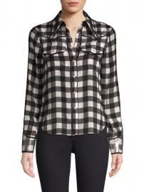Caleb Western Check Plaid Shirt at Saks Fifth Avenue