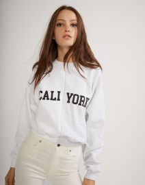 Cali York Sweatshirt by Cynthia Rowley at Cynthia Rowley