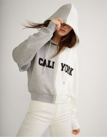 Caliyork Cropped Zip Up Hoodie at Orchard Mile