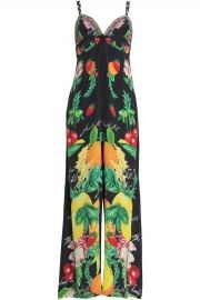 Call Me Carmen crystal-embellished printed silk crepe de chine jumpsuit at The Outnet