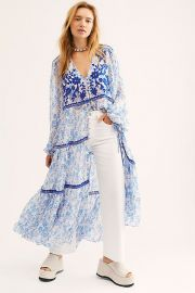 Call On Me Embroidered Maxi Top at Free People