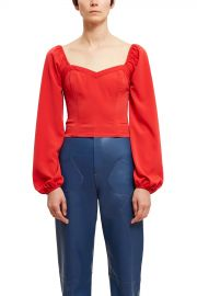 Callipygian Smocked Sweetheart Blouse at Opening Ceremony