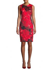 Calvin Klein - Floral Sleeveless Sheath Dress at Saks Off 5th