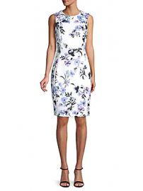 Calvin Klein - Paneled Floral Sheath Dress at Saks Off 5th