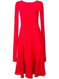 Calvin Klein 205W39nyc cape-sleeve Flared Dress - Farfetch at Farfetch