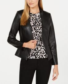 Calvin Klein Asymmetrical Faux-Leather Jacket    Reviews - Jackets   Blazers - Women - Macy s at Macys