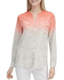 Calvin Klein Cotton Roll-Sleeve Shirt Women - Bloomingdale s at Bloomingdales