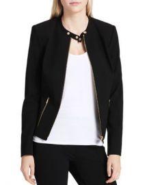 Calvin Klein Crepe Moto Jacket Women - Bloomingdale s at Bloomingdales