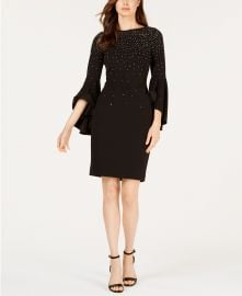 Calvin Klein Embellished Sheath Dress at Macys