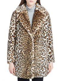 Calvin Klein Faux-Fur Leopard Coat Women - Bloomingdale s at Bloomingdales