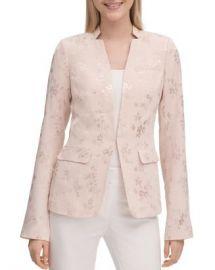 Calvin Klein Floral Jacquard Blazer Women - Bloomingdale s at Bloomingdales