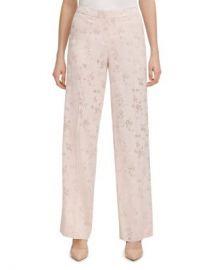 Calvin Klein Floral Jacquard Pants Women - Bloomingdale s at Bloomingdales