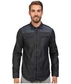 Calvin Klein Jeans Denim Block Shirt Dark Denim at Zappos