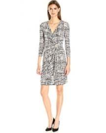 Calvin Klein Mock Wrap Dress at Amazon
