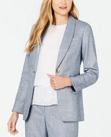 Calvin Klein One-Button Shawl-Collar Blazer    Reviews - Jackets   Blazers - Women - Macy s at Macys