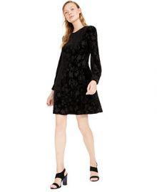 Calvin Klein Petite Burnout Velvet A-Line Dress   Reviews - Dresses - Petites - Macy s at Macys