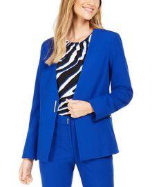 Calvin Klein Petite Collarless Single-Snap Blazer   Reviews - Wear to Work - Petites - Macy s at Macys