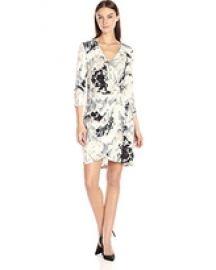 Calvin Klein Printed Wrap Dress at Amazon