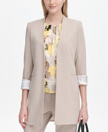 Calvin Klein Roll-Tab Topper Jacket   Reviews - Jackets   Blazers - Women - Macy s at Macys