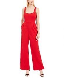 Calvin Klein Square-Neck Jumpsuit   Reviews - Pants   Leggings - Women - Macy s at Macys