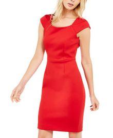 Calvin Klein Square-Neck Sheath Dress   Reviews - Dresses - Women - Macy s at Macys