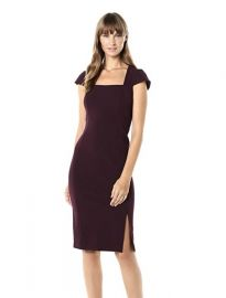 Calvin Klein Square Neck Sheath with Cap Sleeve Dress at Amazon