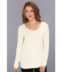Calvin Klein Sweater w Shoulder Button Birch at 6pm