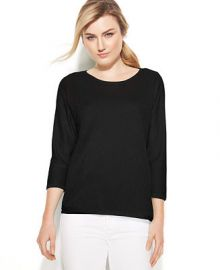 Calvin Klein Three-Quarter-Sleeve Dolman Sweater at Macys