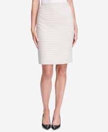 Calvin Klein Tweed Pencil Skirt at Macys