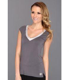 Calvin Klein Underwear Essentials w  Satin Trim Cap Sleeve PJ Top Medium Charcoal at Zappos