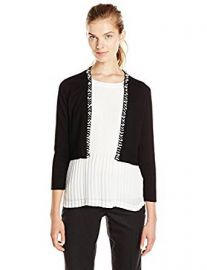 Calvin Klein Women s Shrug with Pearl Detail at Amazon