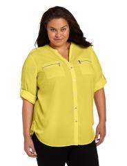 Calvin Klein Zip Roll Sleeve Shirt at Amazon