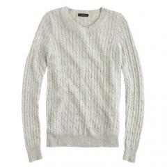 Cambridge Cable Crewneck Sweater at J. Crew