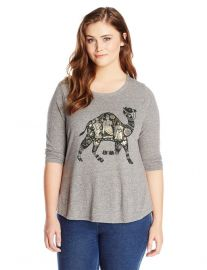 Camel Tee in Plus Size by Lucky Brand at Amazon