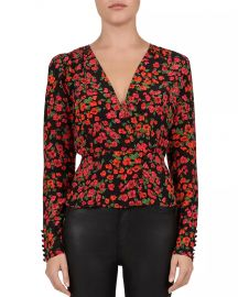 Camellia crossover blouse at Bloomingdales