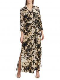 Cameron Silk Printed Long-Sleeve Shirtdress at Saks Fifth Avenue