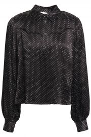 Cameron polka-dot satin blouse at The Outnet