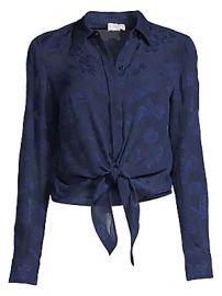Cami NYC - The Joy Floral Silk Tie-Waist Shirt at Saks Fifth Avenue