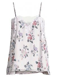 Cami NYC - The Sweetheart Silk Georgette Floral Cami at Saks Fifth Avenue
