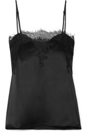 Cami NYC - The Sweetheart lace-trimmed silk-charmeuse camisole at Net A Porter