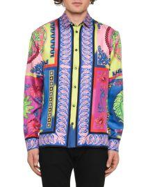 Camicie Medusa Graphic Silk Sport Shirt at Last Call
