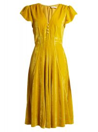 Camilla V-neck velvet midi dress by Altuzarra at Matches