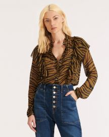 Camilla Zebra Top at Veronica Beard