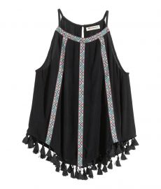 Camisole Top with Fringe at H&M
