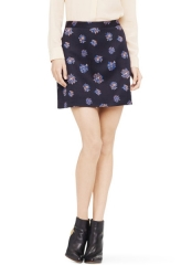 Camissa Floral Skirt in Purple at Club Monaco