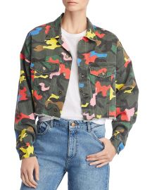 Camo Cropped Denim Jacket at Bloomingdales