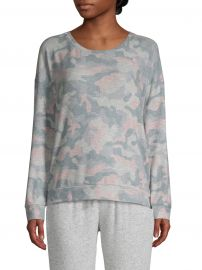 Camo Printed Long-Sleeve Top at Lord and Taylor